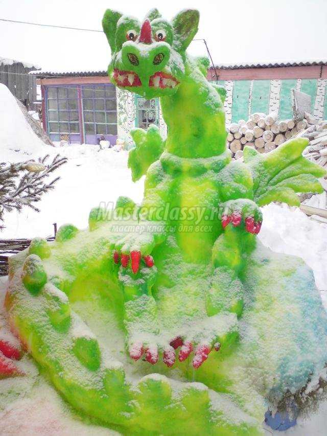 Фигурки из снега своими руками