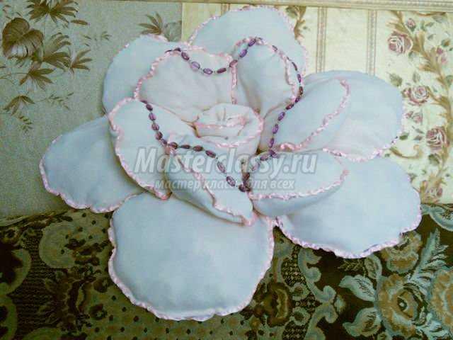 Подушки розы своими руками пошаговая инструкция