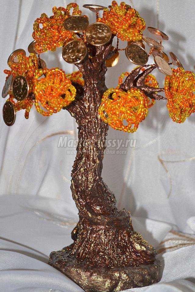 Денежно дерево из бисера мастер класс с пошаговым