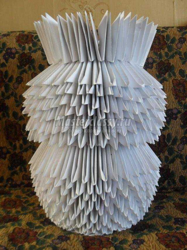Оригами снеговик из модулей