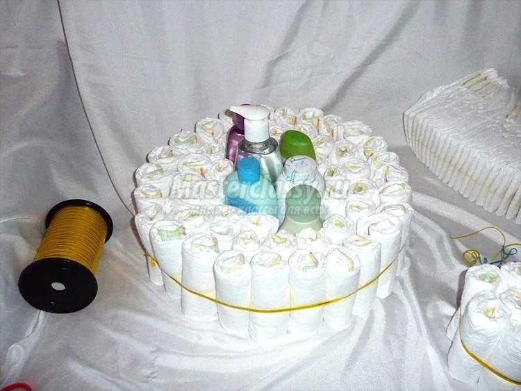 Фото торт из памперсов своими руками пошагово фото