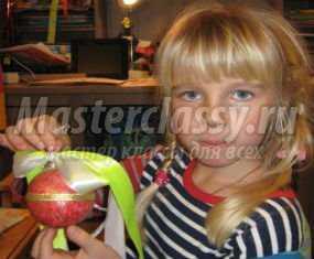 Игрушка на ёлку своими руками шарик