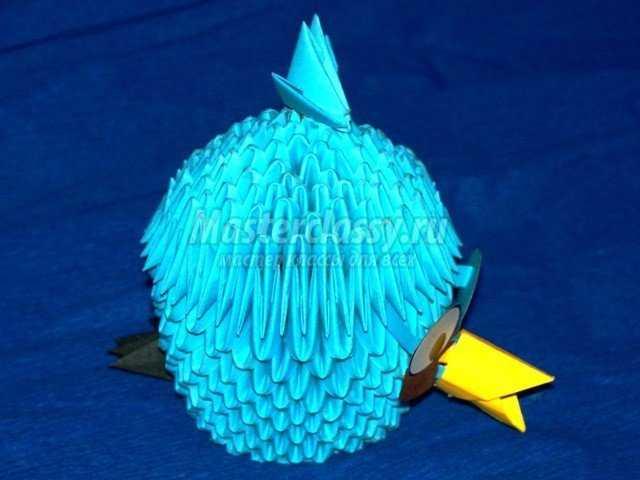 Модульное оригами Птичка Джей