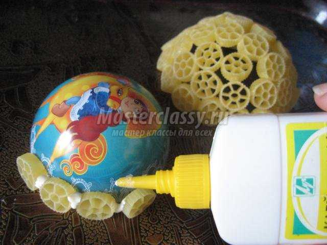 елочные игрушки из макарон своими руками