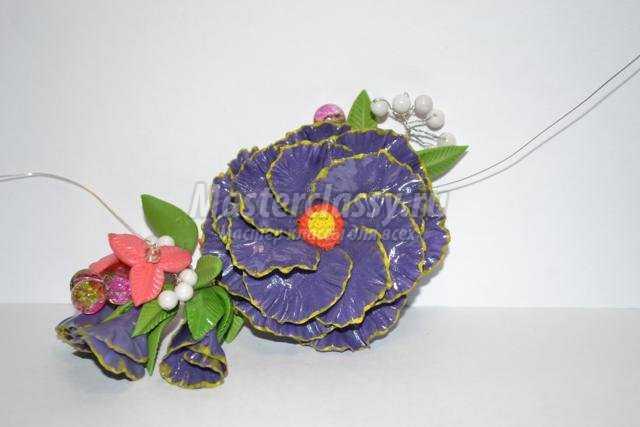 Колье из холодного фарфора с цветами для принцессы. Мастер-класс с пошаговыми фото