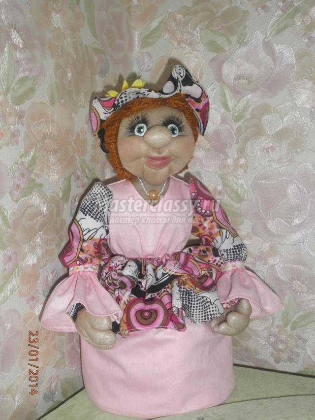 текстильная кукла из капрона.