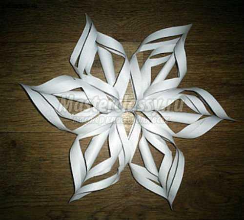 Выпуклая снежинка из бумаги своими руками