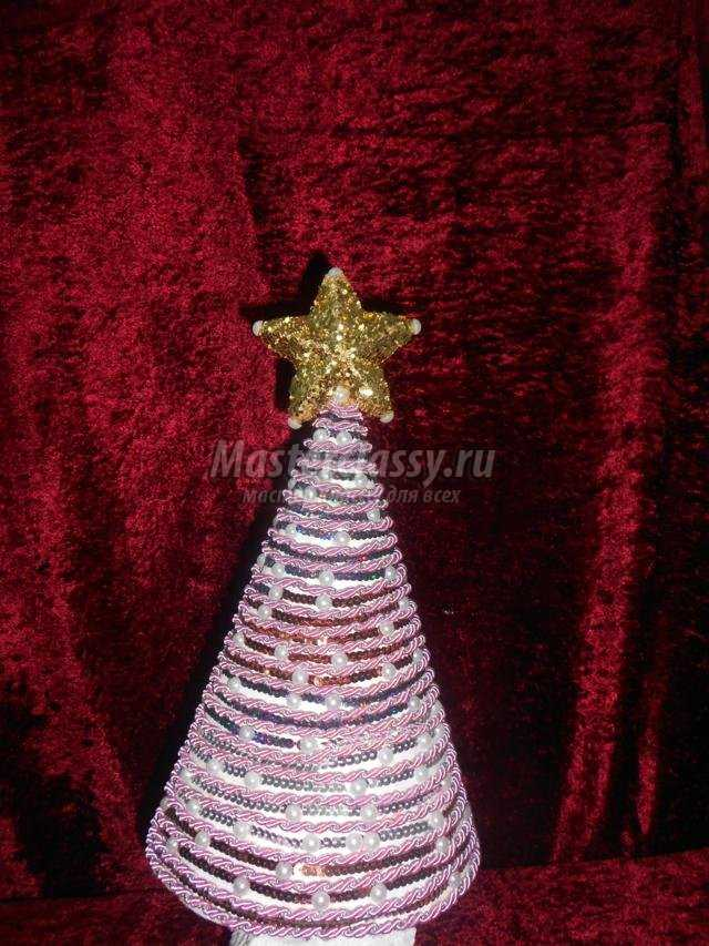 новогодняя ёлка из декоративного жгута