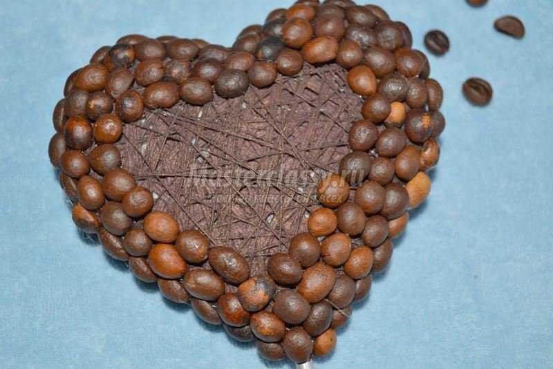 Кофейный топиарий - сердце
