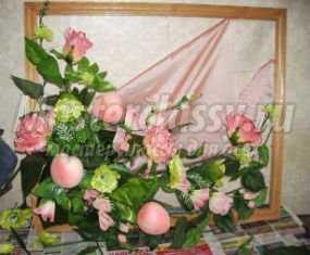Поделки Картины с искусственных цветов своими руками