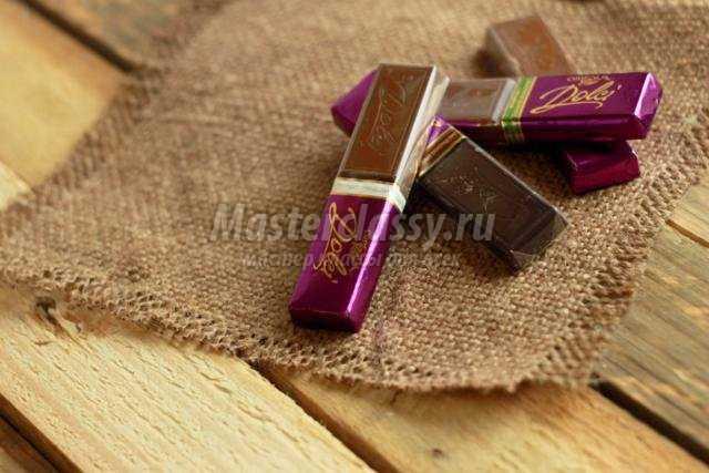 Открытки из шоколадок своими руками