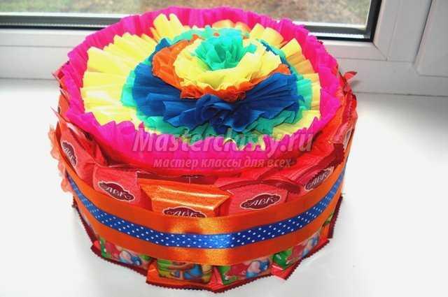 Торт из конфет