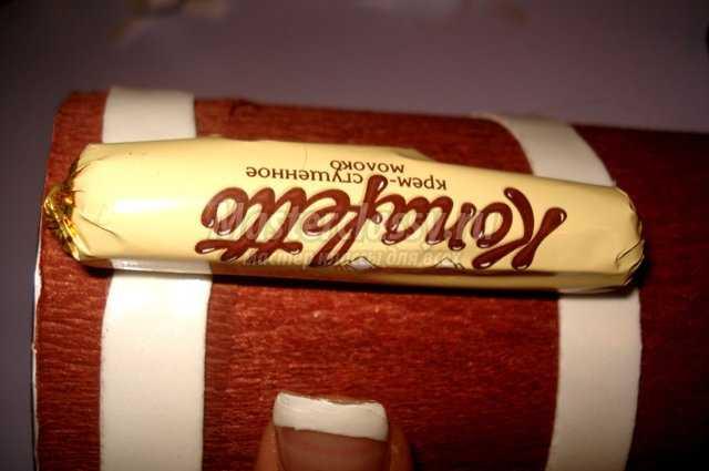 Подарок из конфет для мужчины