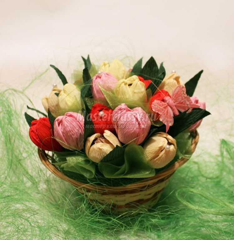 Фото как сделать тюльпан из бумаги своими