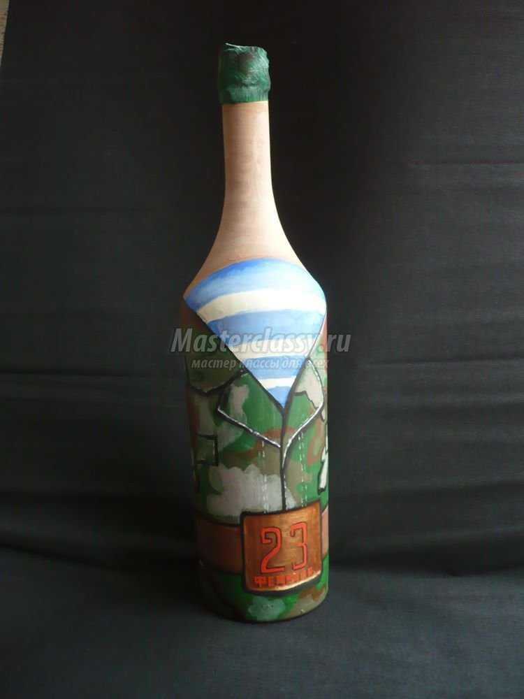 Как оформить бутылку в подарок мужчине своими руками фото 38