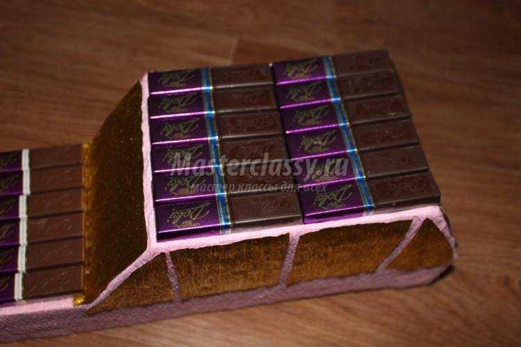 подарки из конфет своими руками. Шоколадная машина