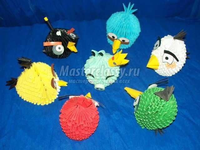 Модульное оригами Птицы и