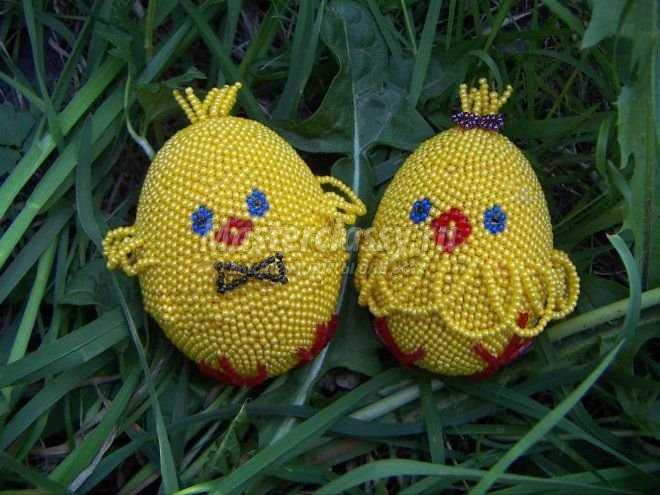яйца из бисера схемы
