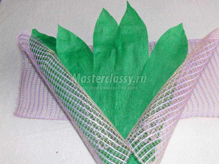 Упаковка для цветов из гофрированной бумаги своими руками 92