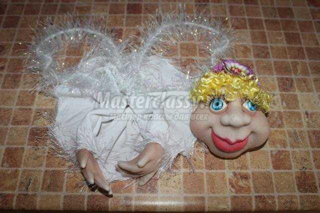 капроновые куклы-попики. Ангелочек