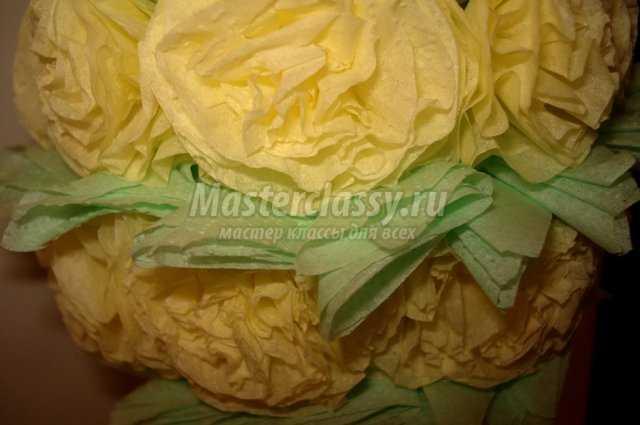Маленькие цветочки из салфеток своими руками