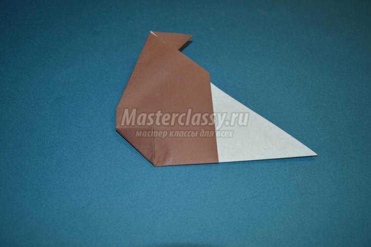 Пошаговый урок оригами по складыванию медведя