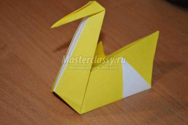 Оригами для детей. Лебедь
