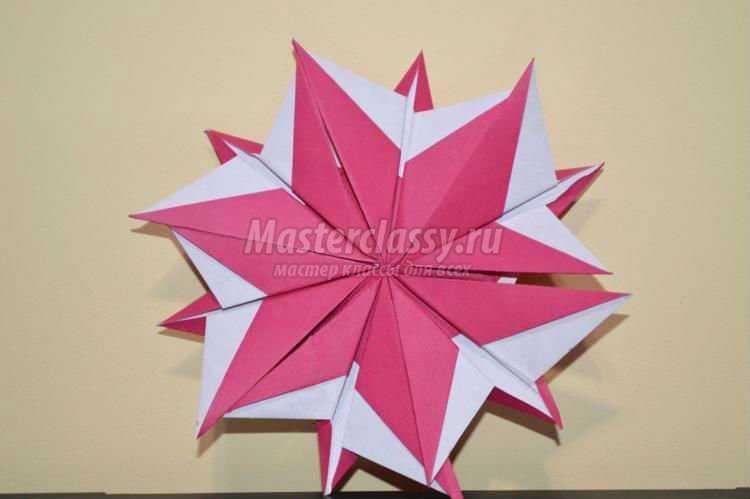 Цветы оригами на 8 марта