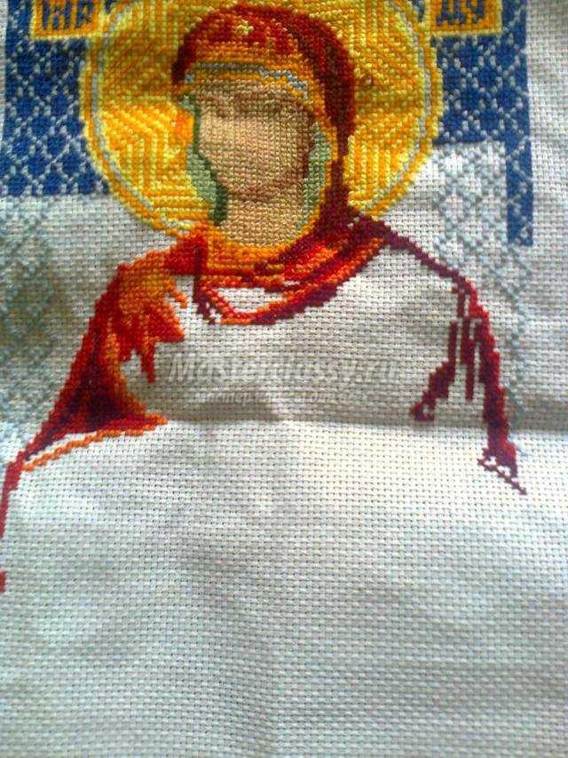 вышивка крестиком иконы.