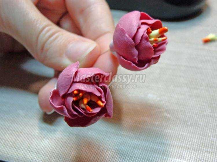 Тюльпан из полимерной глины мастер класс с пошаговым