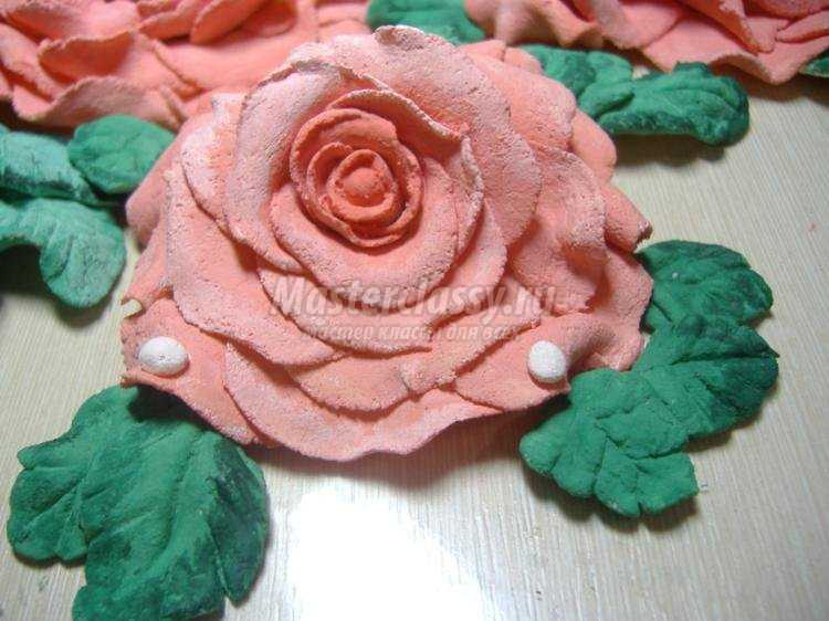 Розы из соленого теста пошаговая инструкция