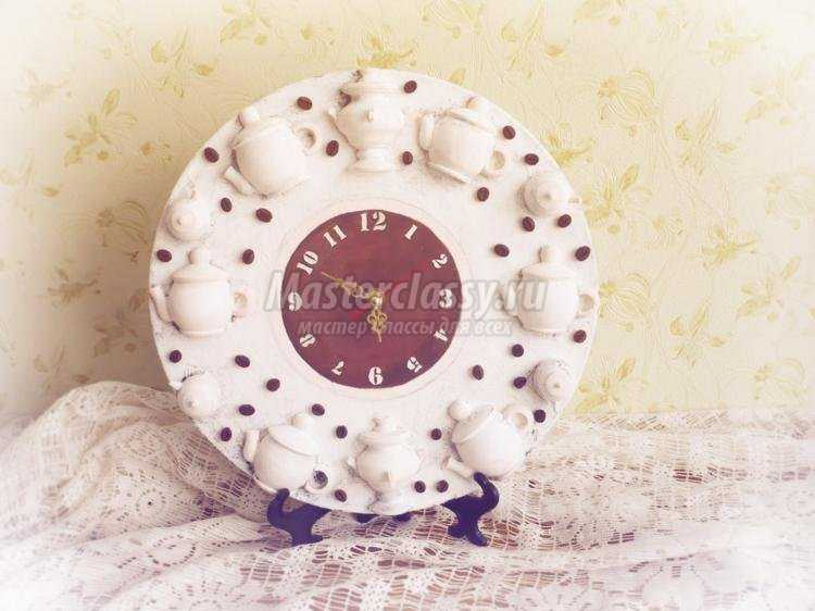 Часы из виниловой пластинки чаепитие