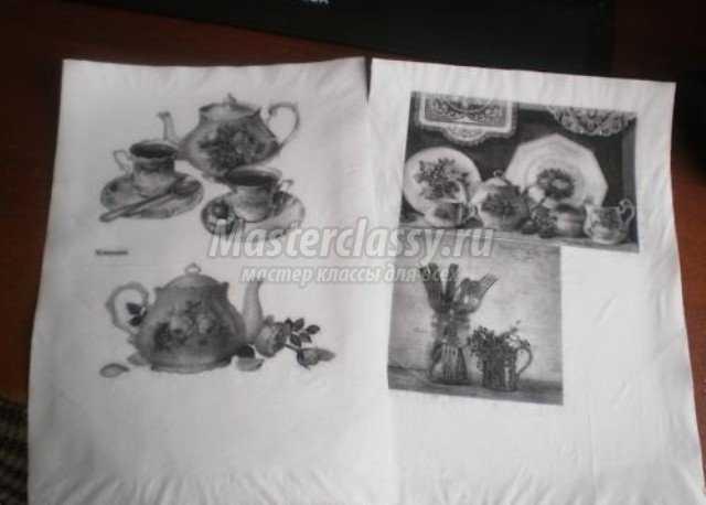 Как изготовить рисунок для декупажа на салфетке своими руками