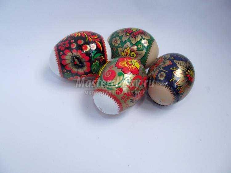 пасхальные яйца-подвески своими руками