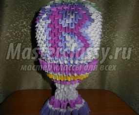 Модульное оригами. Пасхальное яйцо с подставкой. Мастер-класс с пошаговыми фото