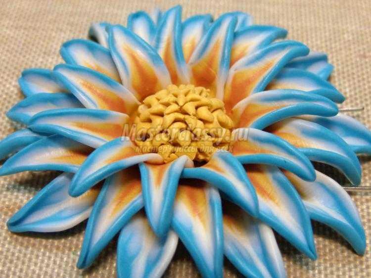Браслет и серьги из полимерной глины. Цветы со сложным переходом цвета. Мастер-класс с пошаговыми фото