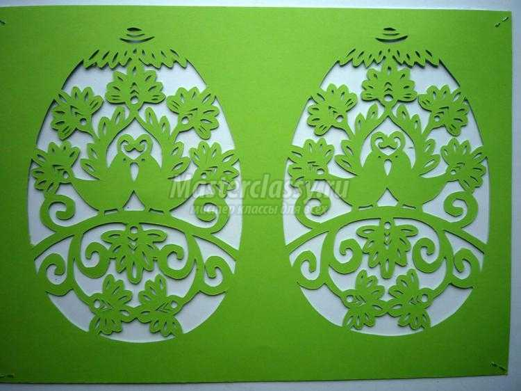 открытка к Пасхе киригами.