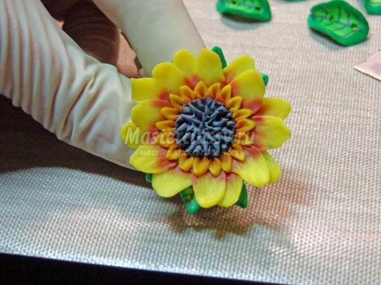 Подсолнухи из полимерной глины мастер класс с пошаговым фото