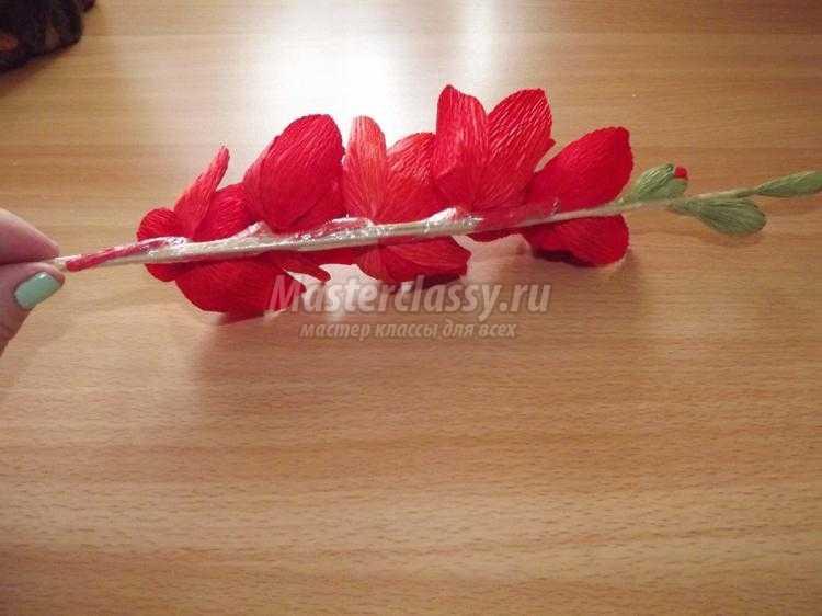 цветы из бумаги своими руками. Гладиолусы