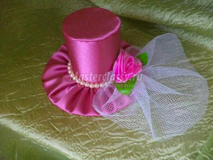 Шляпка на ободке из лент мастер класс с фото #4