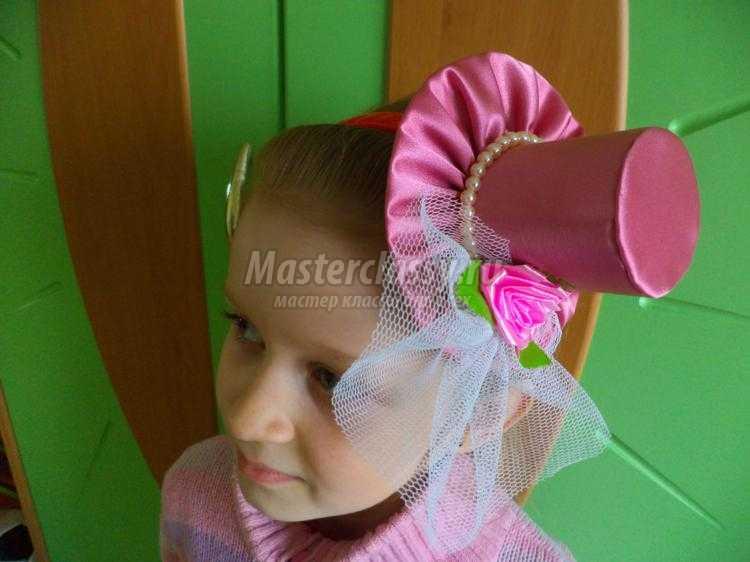 шляпка из атласа на ободке своими руками