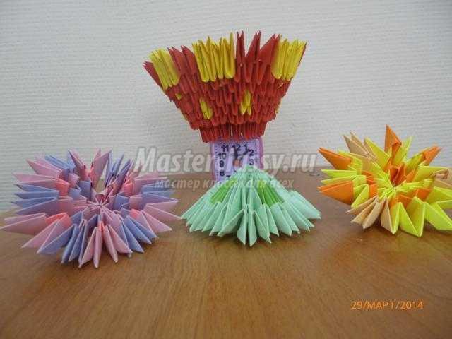 Модульное оригами. Корзина с крашенками