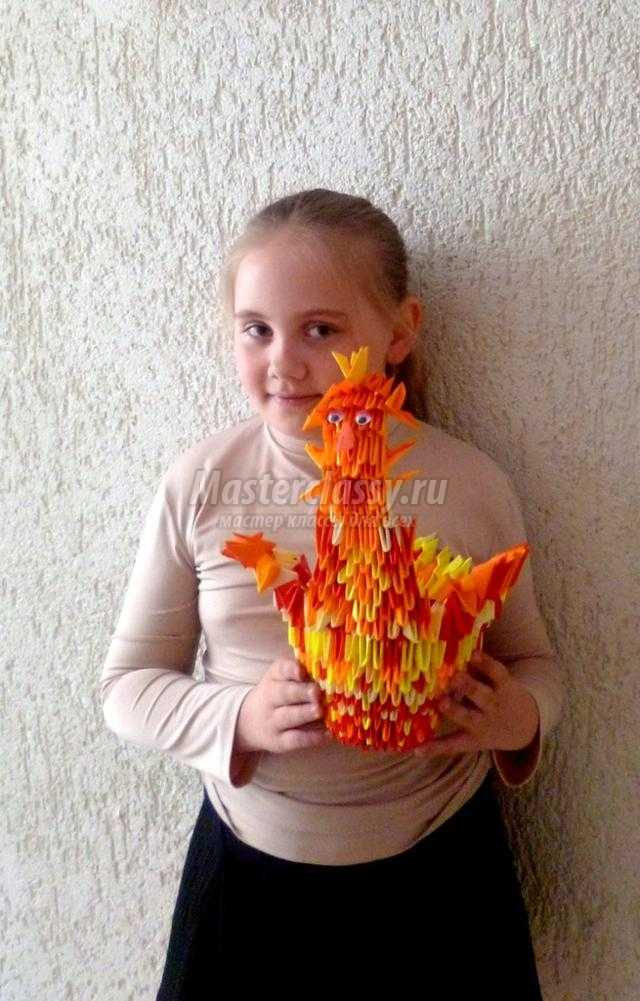 модульное оригами. Курочка