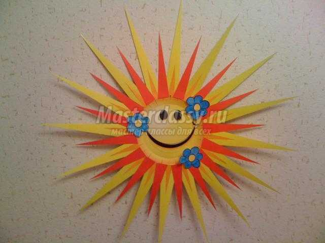 Поделка солнышко в детский сад из одноразовой тарелке 64