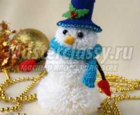 Снеговик из лампочек своими руками фото