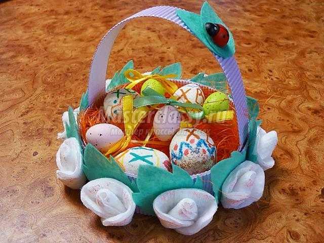 корзиночка для подарков из подручных материалов
