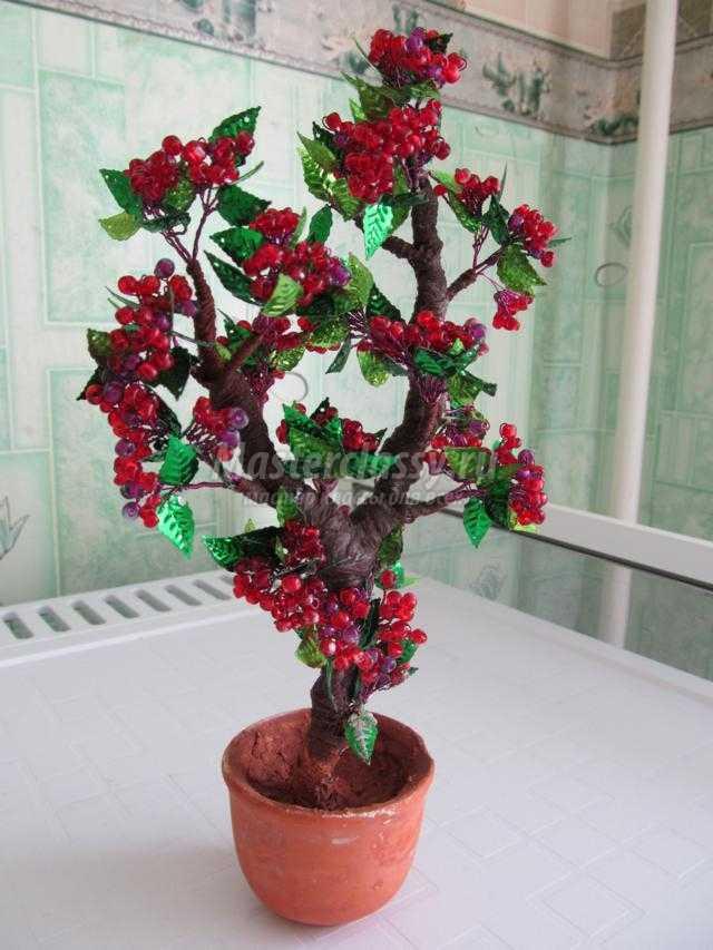 дерево из бисера и пайеток своими руками
