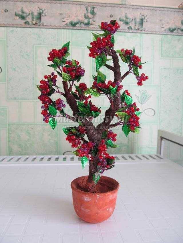 Бисероплетение дерево из пайеток мастер класс идеи #5
