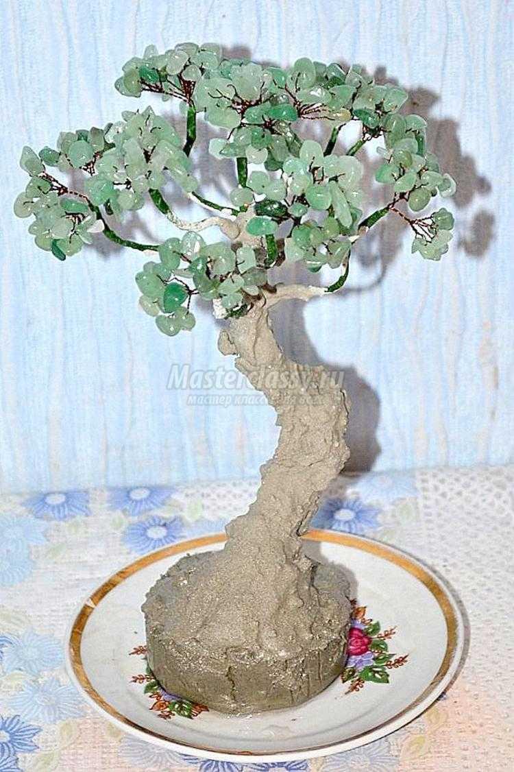 Деревья из натуральных камней мастер класс с пошаговым