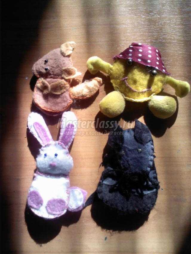 развивающие пальчиковые игрушки к сказке Колобок